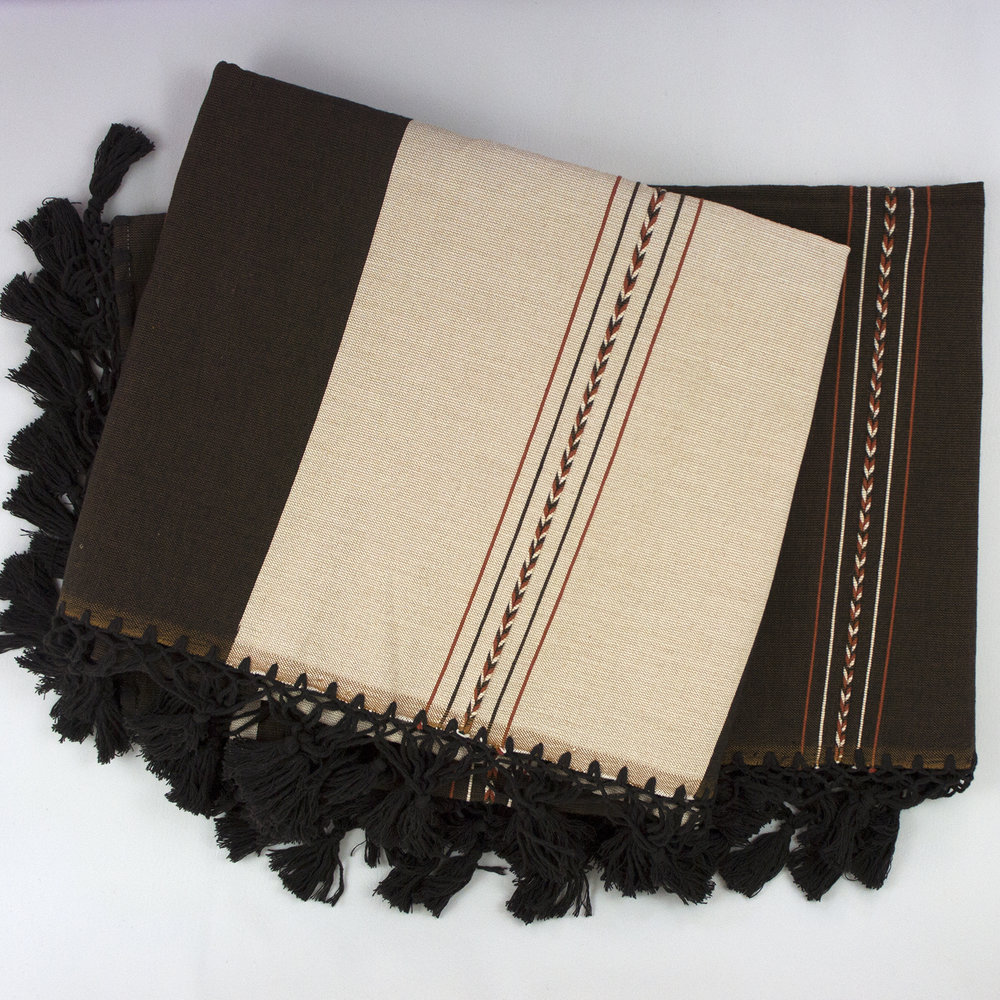 OF107 Oaxca Ochre and Chocolate Throw - 2.jpg