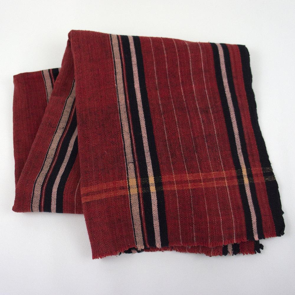 2383 Vintage Karen Red Handwoven Blanket -2.jpg