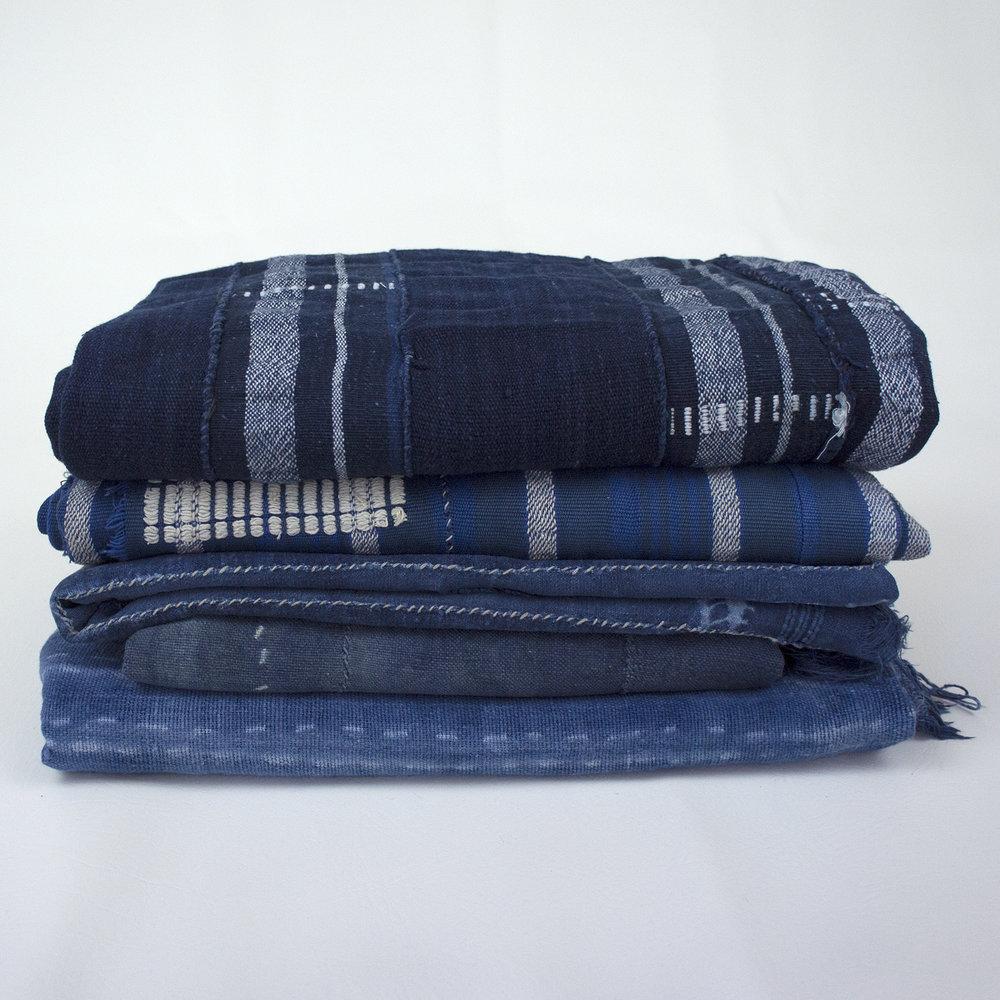 Assorted African Indigo Textiles