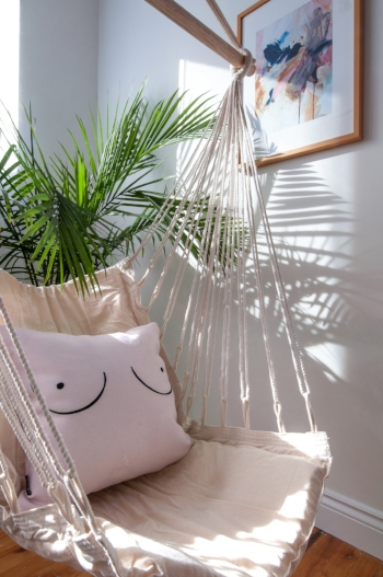 Indoor Plants : Strategically placed indoor plants are always inviting. - They bring a little bit of the outdoors in and create lush green organic shapes which is always nice on the eye.