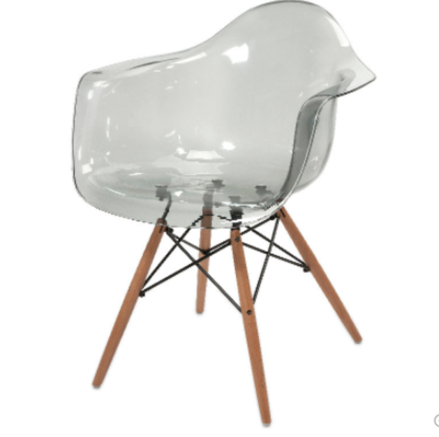 transparent-chair-with-wood-leg-gray-transparent.png