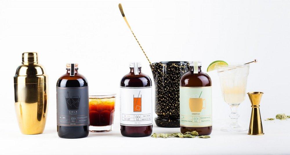 3/4oz Tonic Maison   3/4 oz.prépare en petits lots des concentrés haut de gamme pour les amateurs de cocktails de qualité.