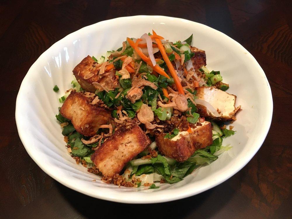 Grilled Tofu Noodle Salad