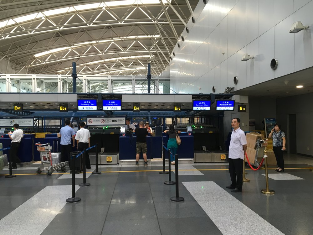 Air Koryo counter at Beijing Capital International Airport (PEK)