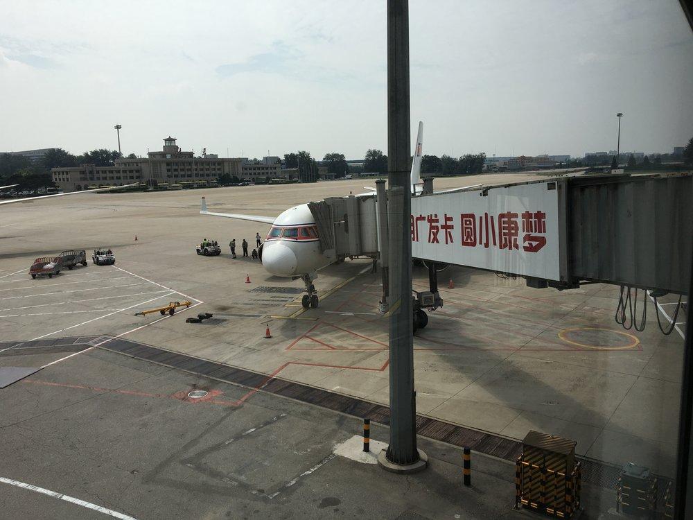 Air Koryo JS152 on a Soviet TU204 from Beijing to Pyongyang