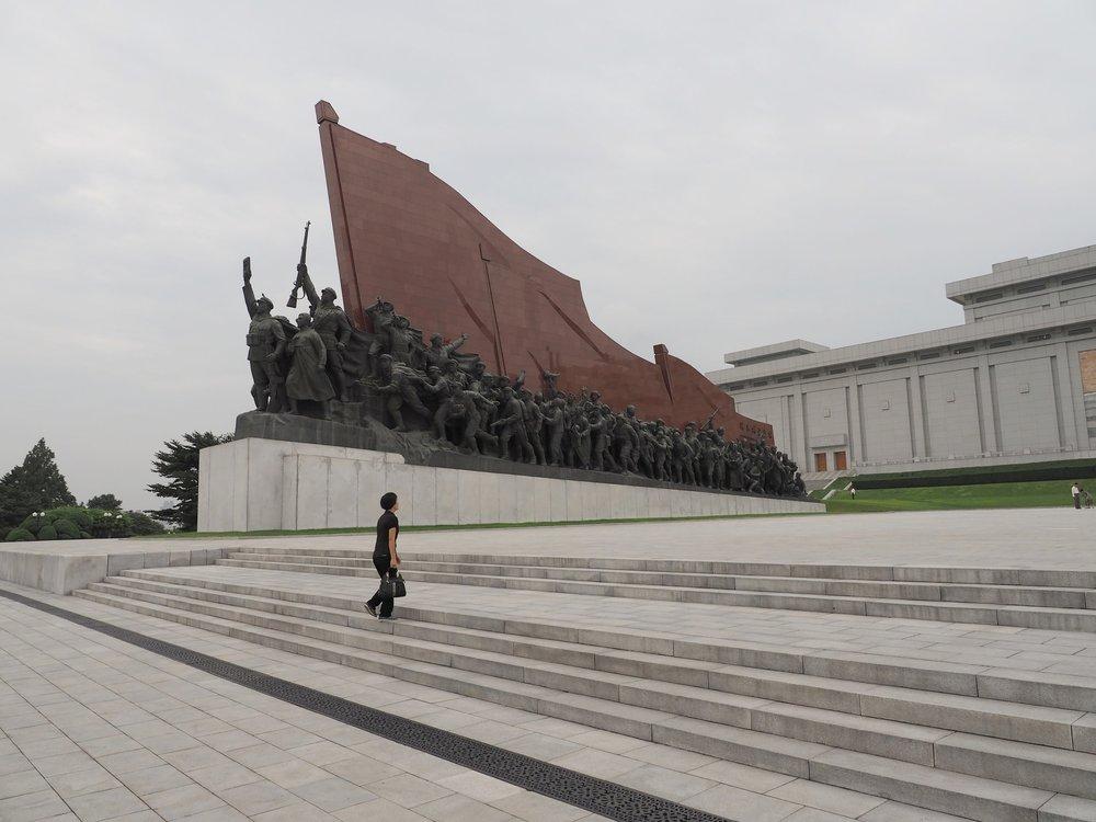 Memorial Memorial to the left