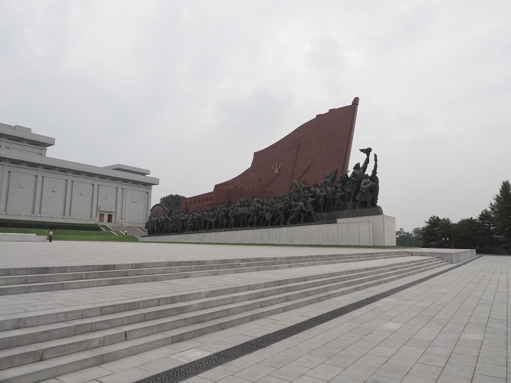 Mansudae Monument to the right
