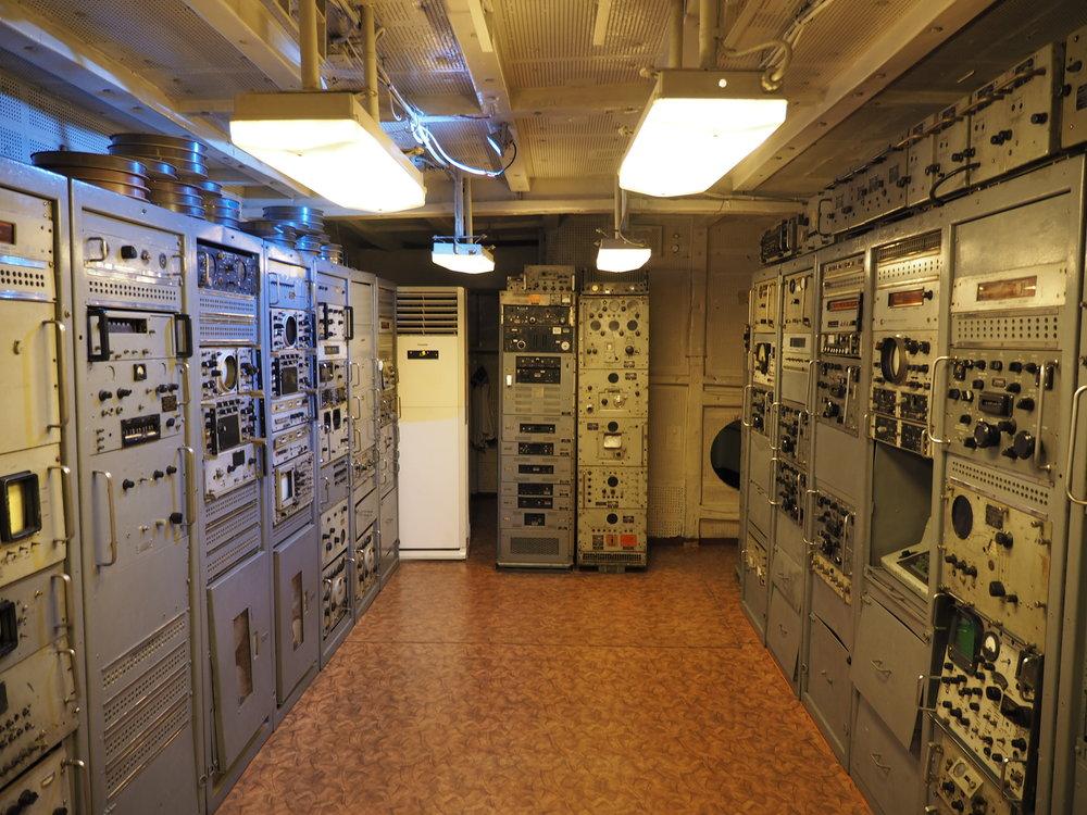 Ancient electronics room