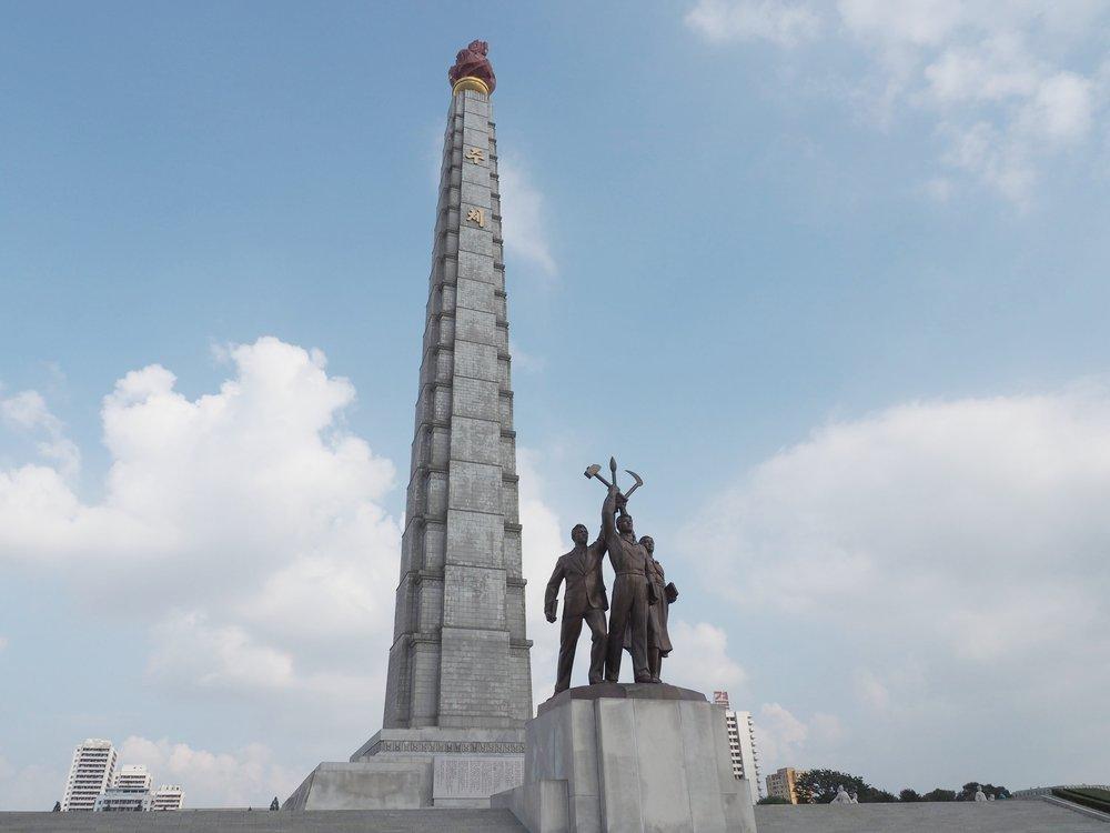 The Juche Tower in Pyongyang