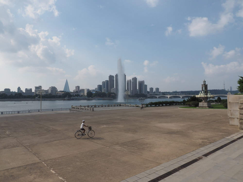 The view of Pyongyang from across the river