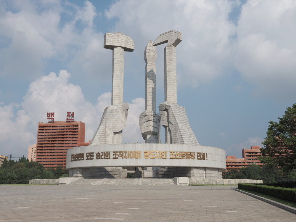 The Party Foundation Monument in Pyongyang