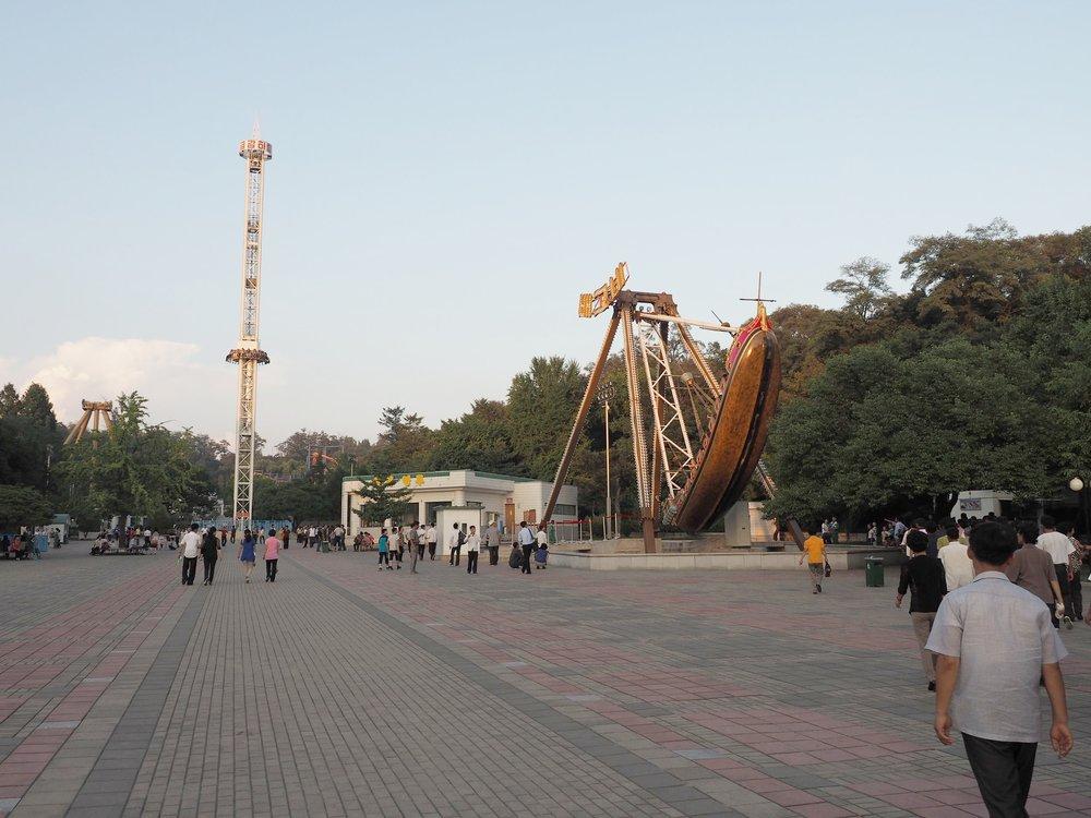 Amusement park entrance