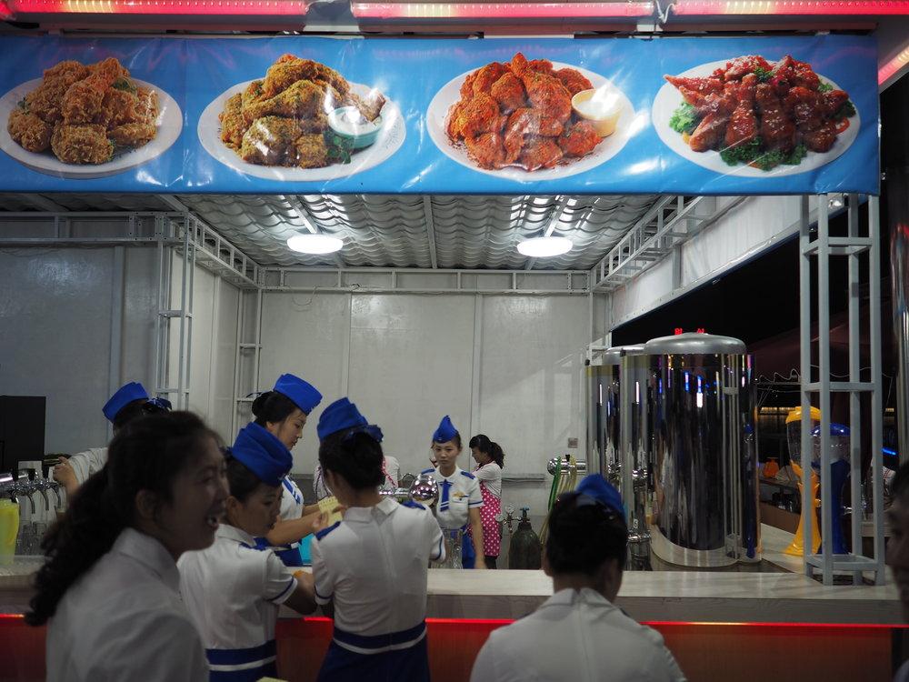 Kitchen and food staff