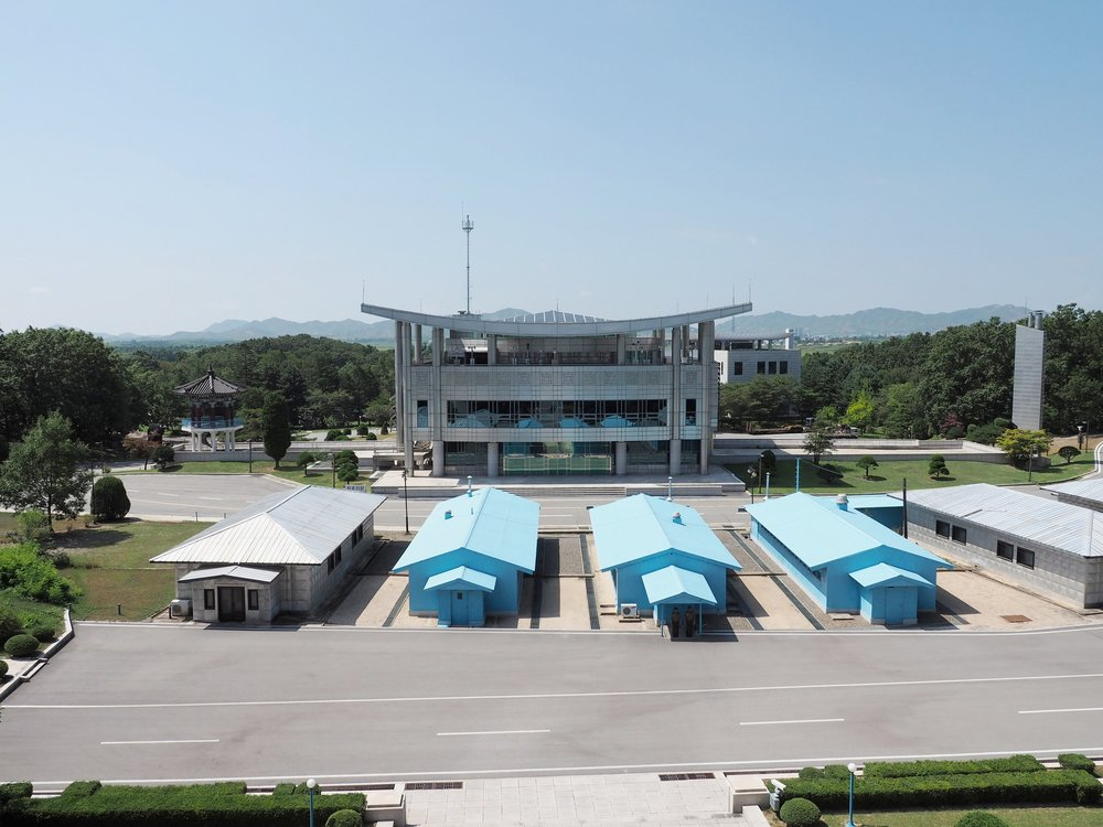 DMZ from North Korea looking towards South Korea