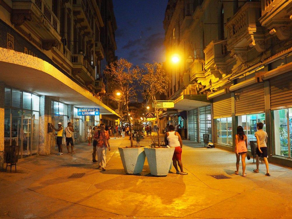 Pedestrian Street of San Miguel near the wifi park