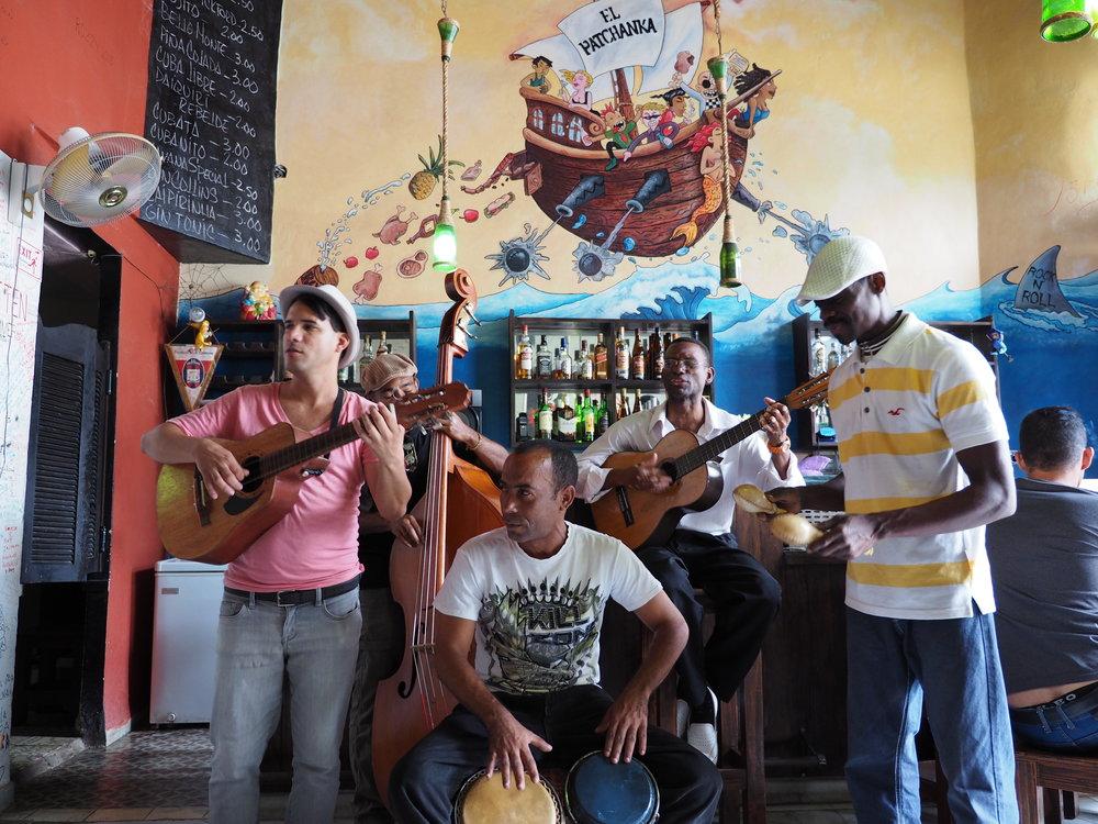 Live band at El Chanchullero