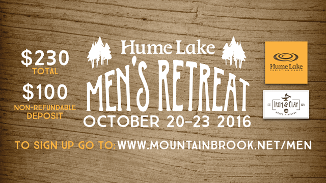 Hume Lake Men's Retreat