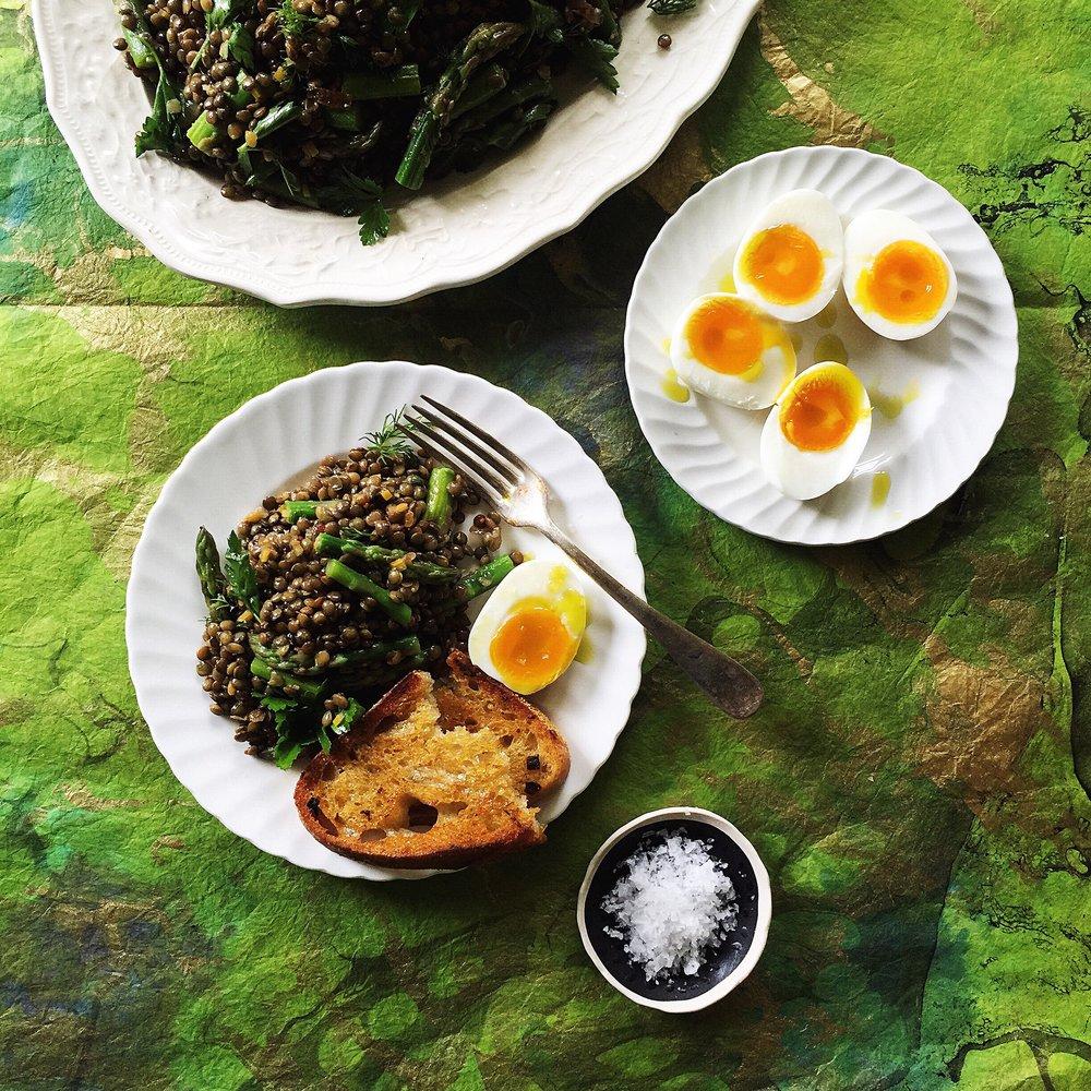 Spring Lentil Salad -