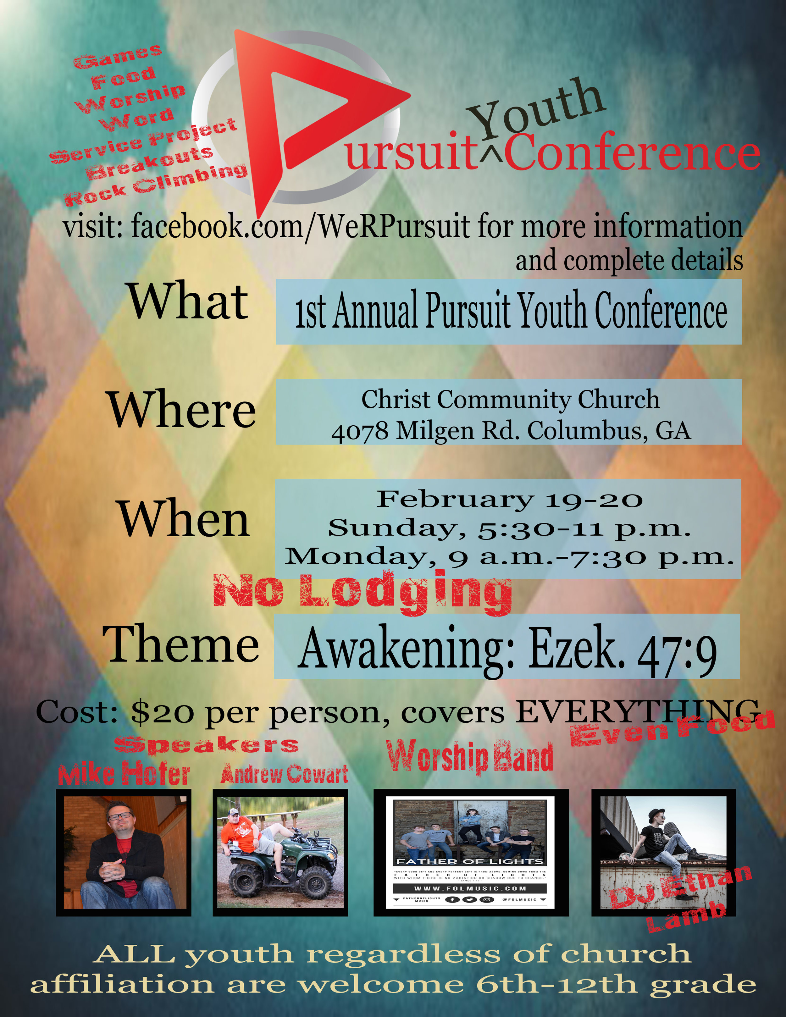 Pursuit Youth Conference — Father of Lights