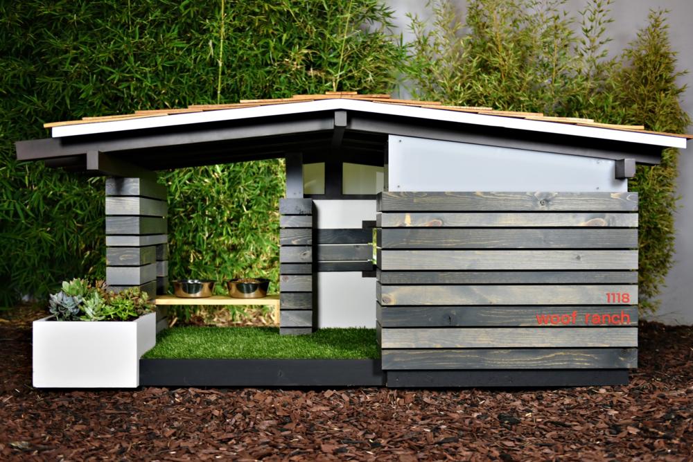 Modern dog house home design for Modern dog house designs