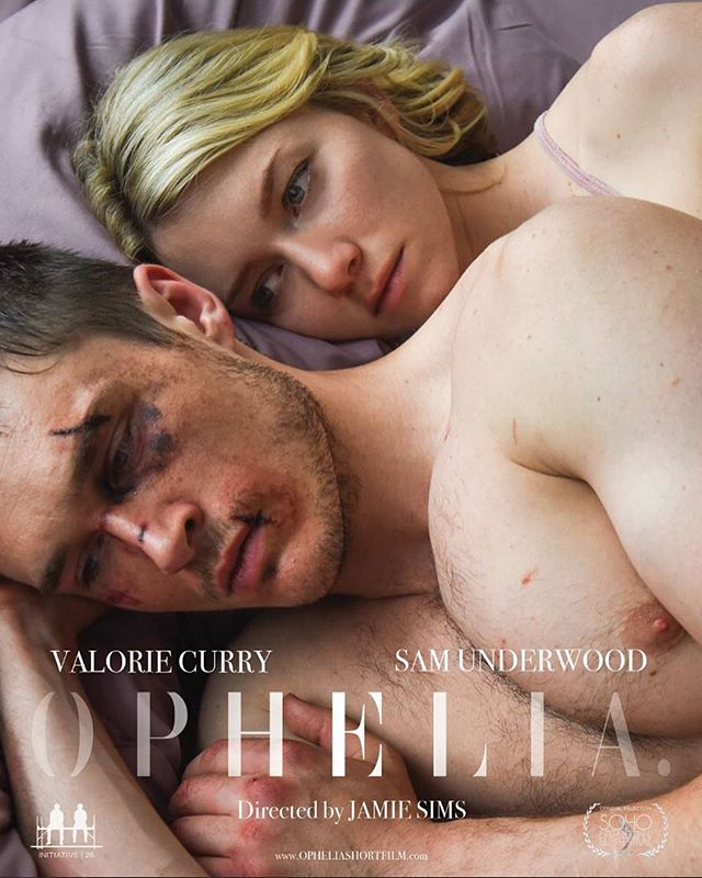 Our beautiful poster launched today. We're @sohofilmfest #soho8 on the 18th and we can't wait to see Ophelia on a big screen. Thank you @russrowland for capturing an image that embodied the essence of our story.  #opheliafilm #shakespearelives #shakespeare #shakespeareonfilm #shortfilm #filmmaking #filmposter #filmfestival #valoriecurry #samunderwood