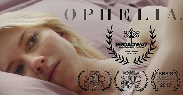 Thrilled that the Broadway Film Festival awarded us Best Narrative Short Film. We're so happy that you enjoyed it. #filmfestival #shakespearelives #valoriecurry #samunderwood #filmmaking #shortfilm #hamlet #opheliafilm