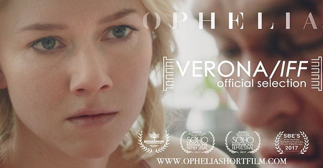 We were officially selected for the Verona International Film Festival! - a festival focusing on the complexities of human relationships and taking place in Shakespeare's most famous city - Fair Verona! #filmfestival #ophelia #shakespearelives #shakespearesunday #shortfilm #samunderwood #valoriecurry #jamiesims #filmmaking