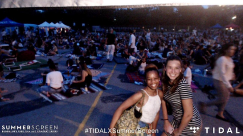My co-worker and I at the #TIDALXSummerScreen photobooth