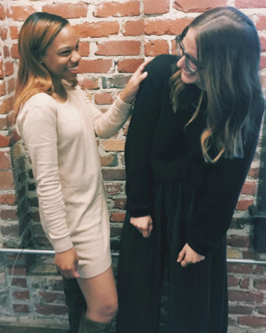 Aimee Rancer & I laughing at the fact that I pitched her for an influencer opportunity for a previous client a couple of years ago.