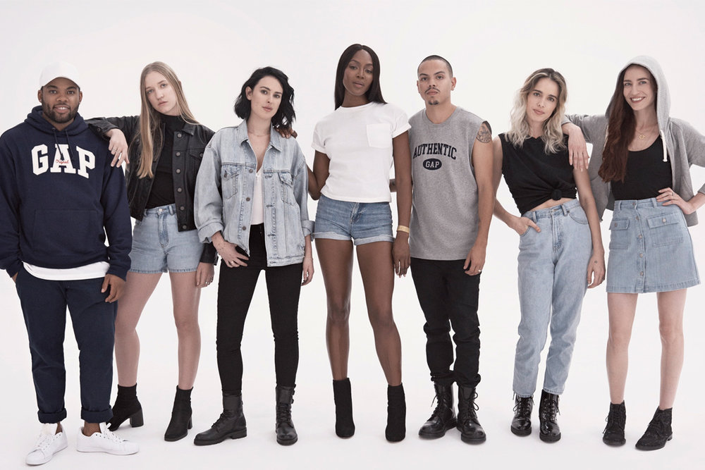 Gap's recent campaign, Generation Gap:  New Chief Marketing Officer, Craig Brommers tapped the children of celebrities who starred in Gap's original 90s campaigns, such as Demi Moore's daughter Rumer Willis, and Diana Ross' son Evan Ross.