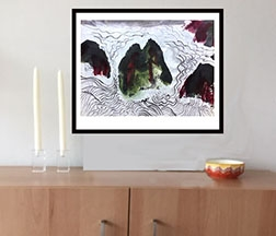 Framed and matted prints in 2 sizes; $120 and $160. Other sizes available