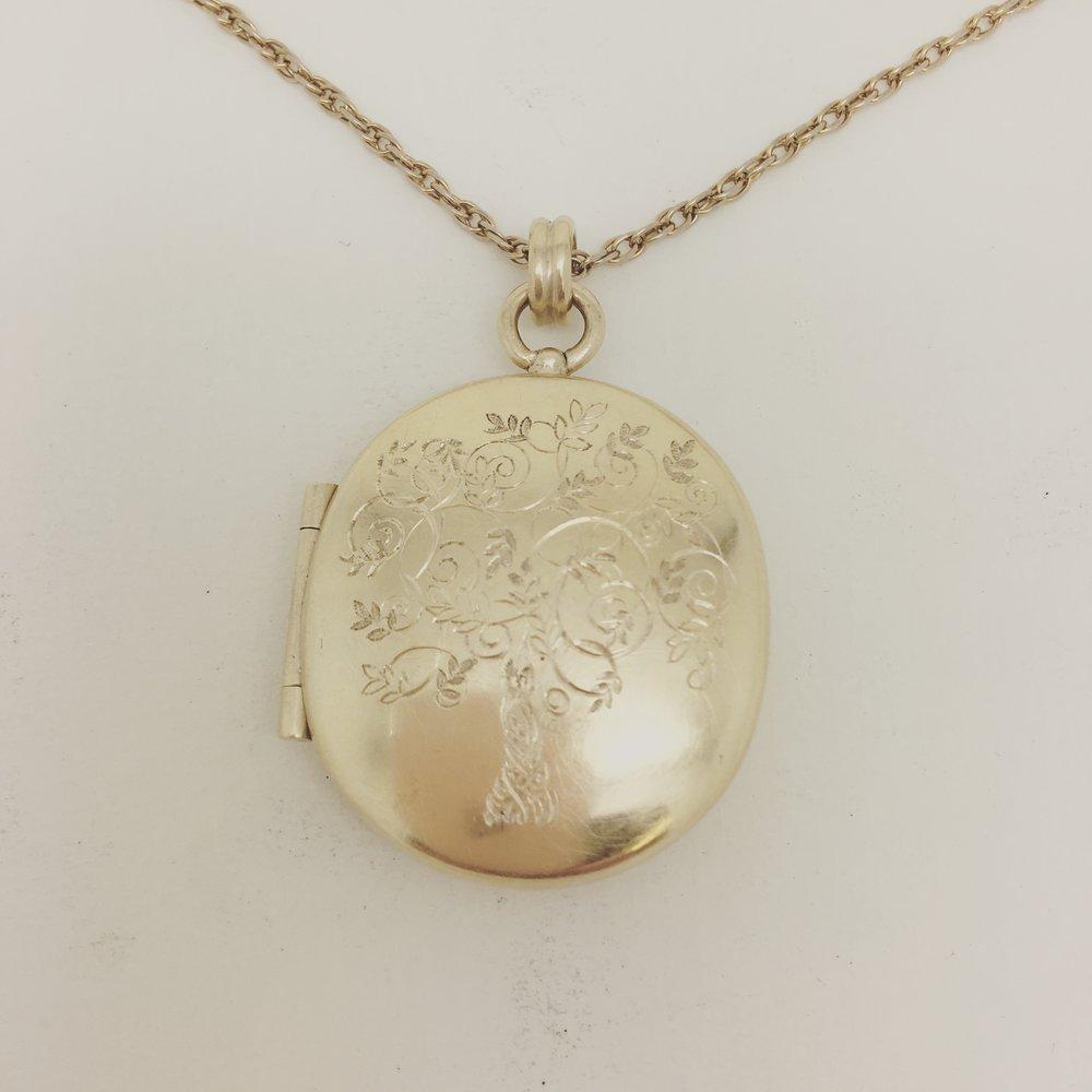 Amulett mit Lebensbaum in 750/000 Gelbgold