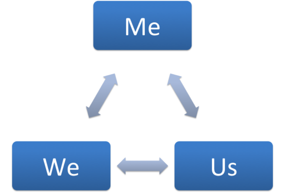 Aaron Jarden's Me, We & Us wellbeing model