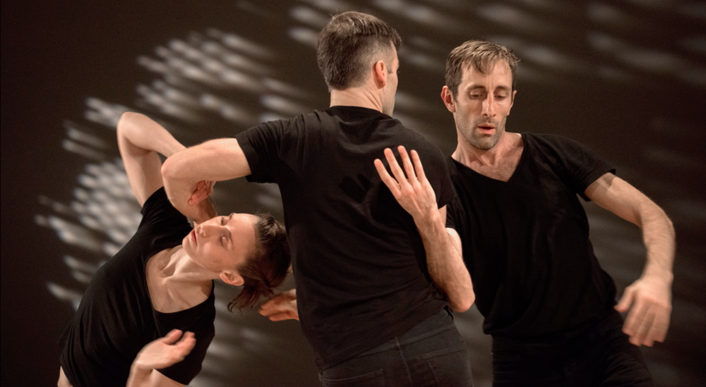 Engage the Feeling Arms  by Peter Bingham  Performers: Olivia Shaffer, Farley Johansson, Walter Kubanek at EDAM Choreographic Series Dec 2016 image credit: Chris Randle