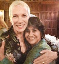 Mallika Dutt with Annie Lennox