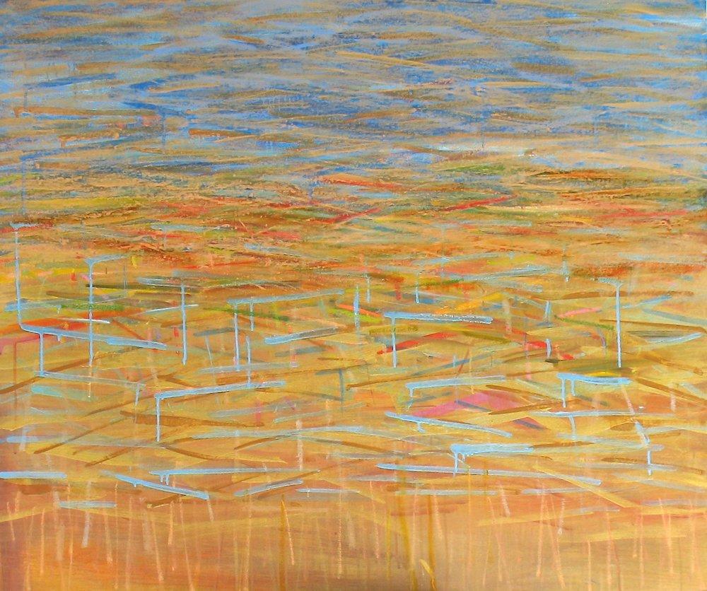 """Coast"" 40""H x 48""W. Acrylic on Canvas. $3000"