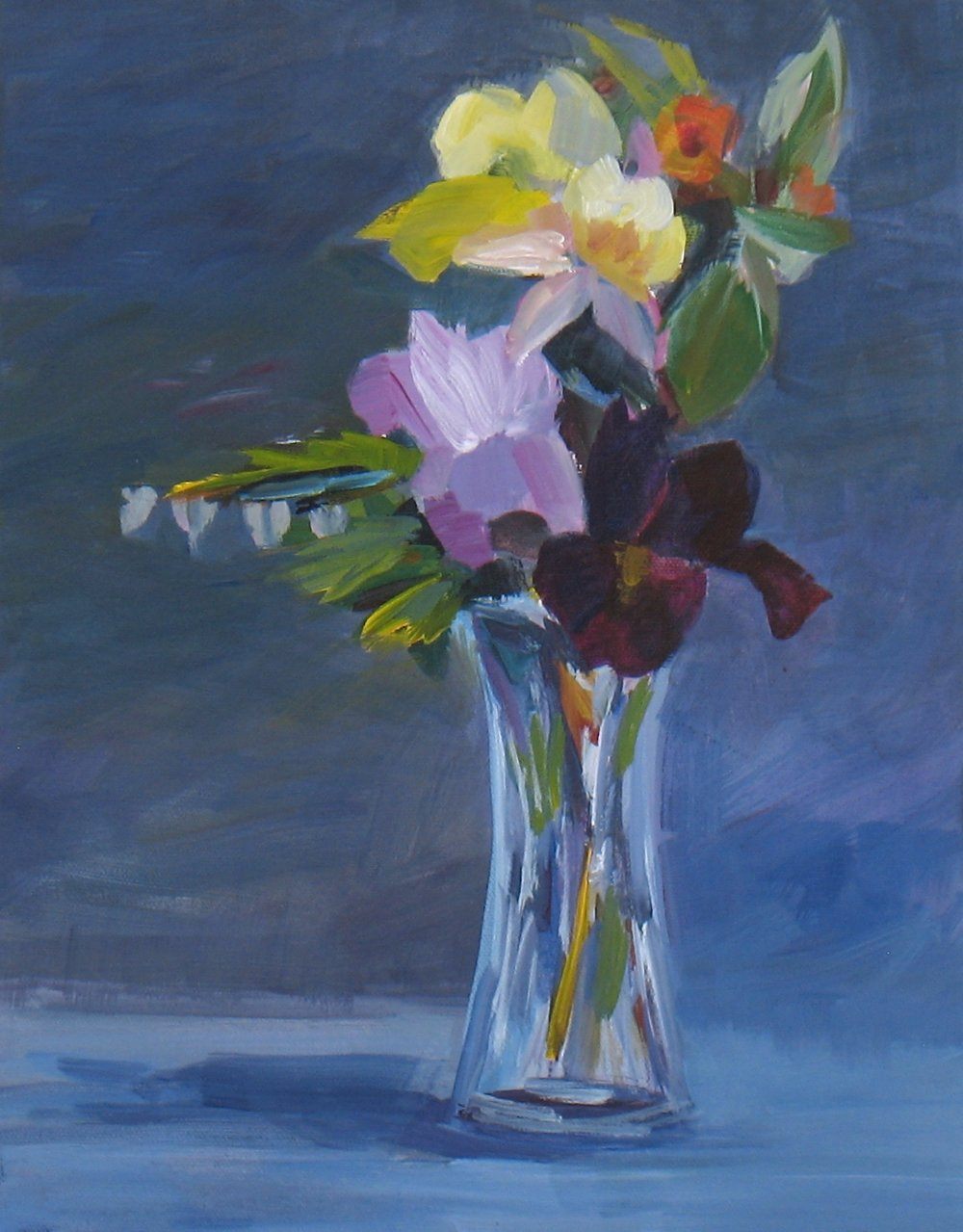 """""""May Flowers #5"""" 14""""H x 11""""W. Acrylic on Canvas. $500"""