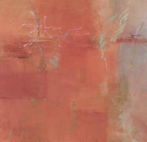 """Hermine"" 52""H x 54"" W. Acrylic on Canvas. $4500"