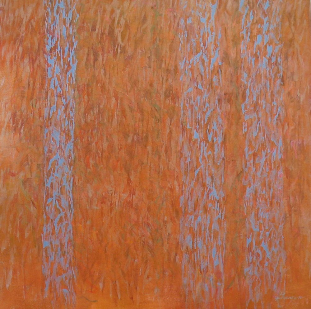 """Fantasy""54""HX54""W Acrylic on Canvas. $4700"