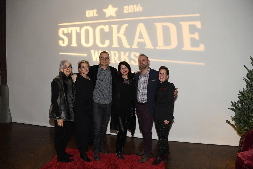 Stockade Works Board Members - Jane Hoffman, Mary Stuart Masterson, Rob Tourtelot, Lucy Barzun Donnelly, Ari Pomerantz & Beth Davenport