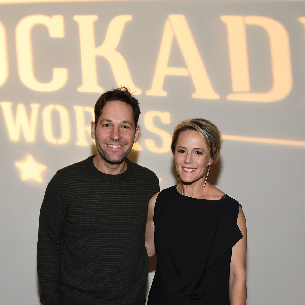 Paul Rudd and Mary Stuart Masterson at Stockade Works launch party