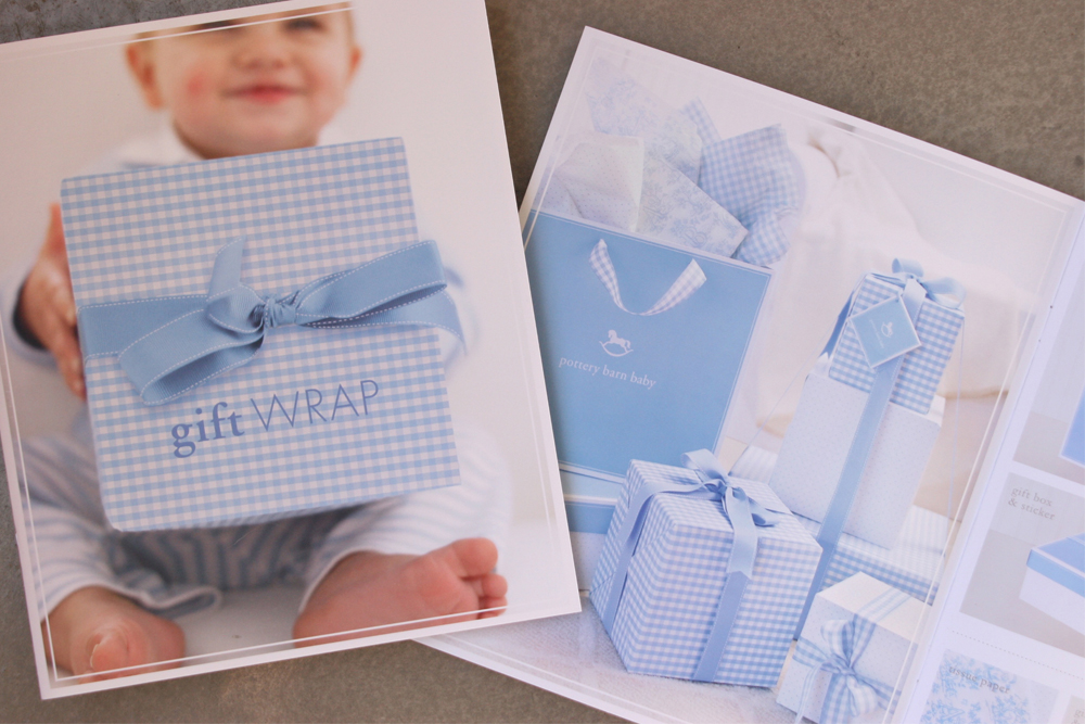 And with stationery comes gift wrap for boys and girls. This brochure was sent to stores to help customers choose their appropriate gift wrap options.