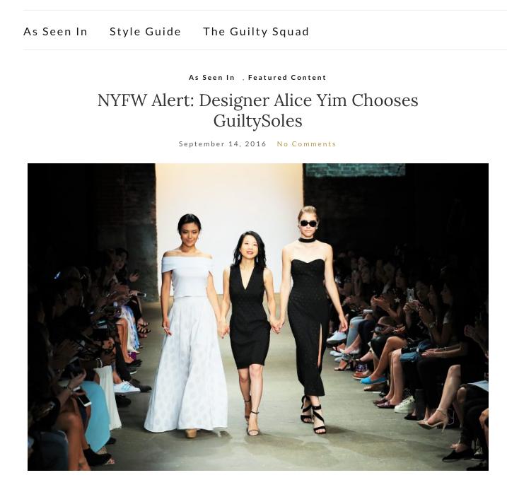 Guilty Soles  -NYFW Alert: Designer Alice Yim Chooses GuiltySoles