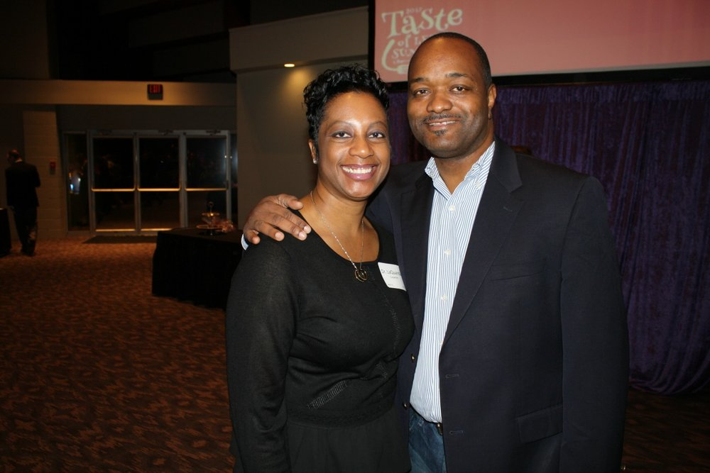 Dr. Dennis L. Carpenter, 2017-18 superintendent, at Taste of Lee's Summit with his wife, Dr.   LaQuanda   Carpenter.