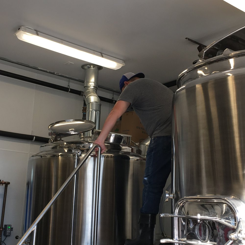 Smoke Brewing Company's Butcher's Block Pilsner is currently brewing and will soon be available for customers.