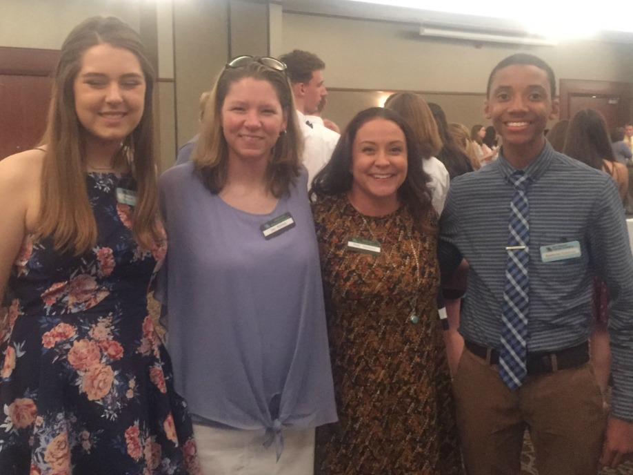 Pictured at Missouri Scholars Academy are (from left) Megan Carlson, Sara Witteman, Mindy Haesemeyer and Kameron Robinson.