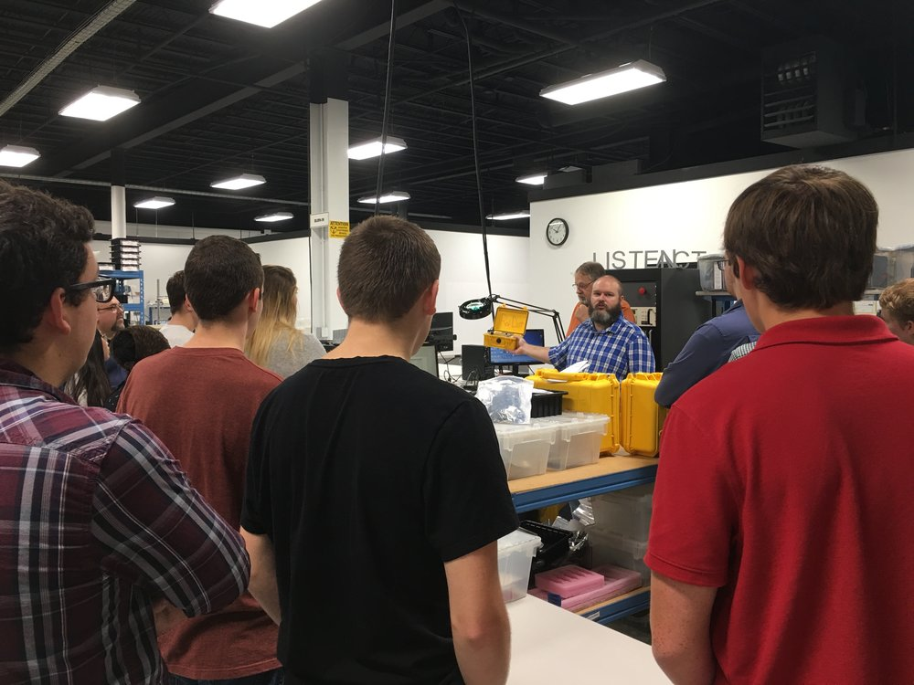 Brian Lincoln, owner of ULTRAX Aerospace, spoke to students about career opportunities in the growing industry of aerospace manufacturing.
