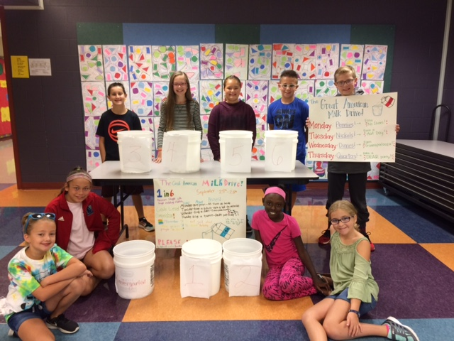 Students working on the project at Sunset Valley Elementary included (back row, from left) Derek Robb, Berkley Hurst, Samantha Brawley, Andrew Nitsche, Seth Estes, (front row, from left) Addison Ditamore, Teagan Eason, Faryn Raney and Amber Mesz.
