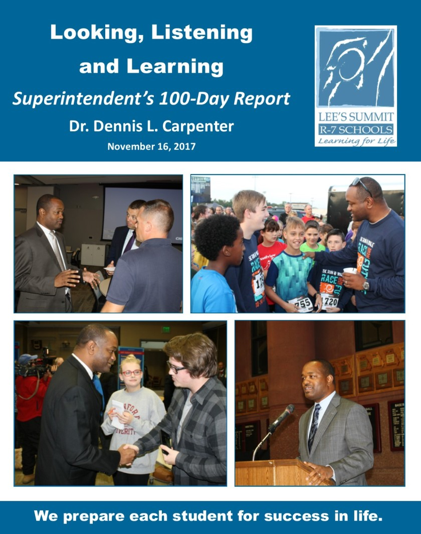 The complete Superintendent's 100-Day Report is available  here .