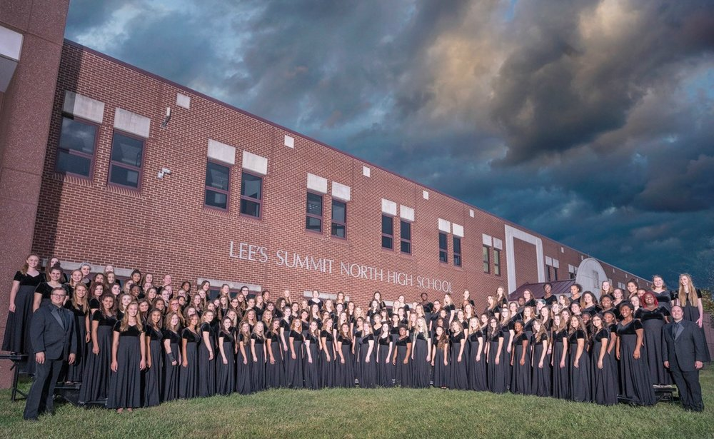 The Lee's Summit North High School Combined Women's Choirs.